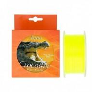 Fir Monofilament Aqua Crocodile Fluo-Carp, Rezistenta 12 kg, 600 m, 0.25 mm, Galben, Baracuda