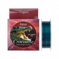 Fir Monofilament Aqua Crocodile Match-Feeder, Rezistenta 5 kg, 150 m, 0.16 mm, Gri, Baracuda