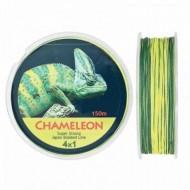 Fir Textil Chameleon, Rezistenta 5.6 kg, 150 m, 0.12 mm, Verde/Galben