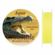 Fir Textil Aqua Crocodile, Rezistenta 11.5 kg, 100 m, 0.16 mm, Galben, Baracuda