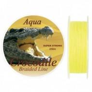 Fir Textil Aqua Crocodile, Rezistenta 67 kg, 250 m, 0.60 mm, Galben