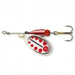 Lingurita Rotativa Cormoran Bullet, Silver-Red, Nr.2, 4G