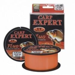 Fir Monofilament Carp Expert UV Fluo, Rezistenta 12.5 kg, 300 m, 0.30 mm, Portocaliu
