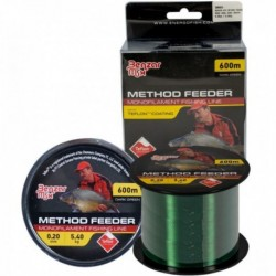 Fir Monofilament Benzar Method Feeder Mono Dark Green, Rezistenta 4.3 kg, 600 m, 0.18 mm, Verde