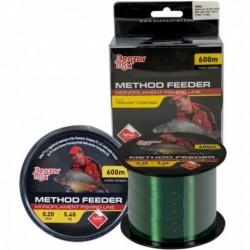 Fir Monofilament Benzar Method Feeder Mono Dark Green, Verde Inchis, 600m, 0.22mm 6.50kg