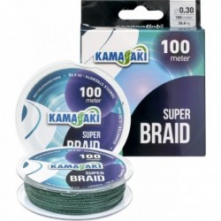 Fir Textil EnergoTeam Kamasaki Super Braid, Green, 100m, 0.18mm 14.3kg