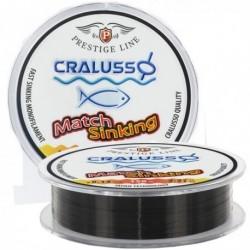 Fir Monofilament Scufundator Cralusso Prestige Match Sinking, Rezistenta 2.7 kg, 150 m, 0.16 mm, Maro