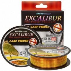 Fir Monofilament EnergoTeam Excalibur Carp Feeder Fluo, Rezistenta 14.8 kg, 300 m, 0.35 mm, Portocaliu/Galben