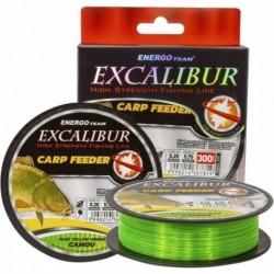 Fir Monofilament EnergoTeam Excalibur Carp Feeder Fluo, Rezistenta 12.3 kg, 300 m, 0.30 mm, Galben/Verde