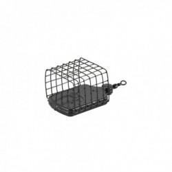 Momitor Feeder Patrat Negru 40G, plumb+cosulet metalic cu vartej
