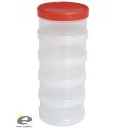 Cutie Plastic Cu Filet 5Buc Diam 8,5Cm