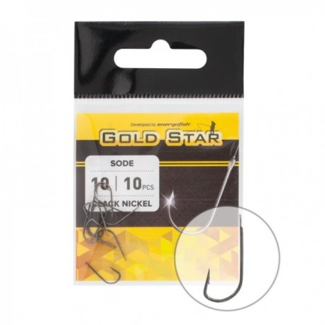 Carlige Goldstar Horog Sode Black Nickel Nr.6, 10Buc/plic