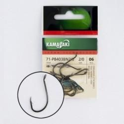 Carlige Kamasaki P8403Bn Black Nickel, Nr. 10, Tip Ochet, 12 Buc/Plic