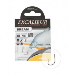 Carlige legate (montura) Excalibur Bream Match, Nr.6, Monofilament, 10 Buc/Plic
