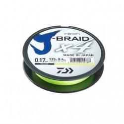 Fir Textil Daiwa J-Braid X4, Rezistenta 2.6 kg, 135 m, 0.07 mm, Galben