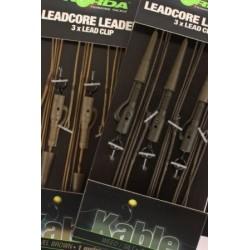 Montura Leadcore Korda Cu Inel 3Buc/Plic Weed