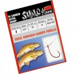 Carlige legate (montura) DAM Sumo Spezi Trout, Nr.8, Monofilament, 10 Buc/Plic