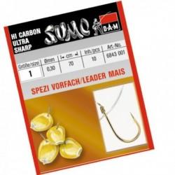 Carlige legate (montura) DAM Sumo Spezi Mais, Nr.12, Monofilament, 10 Buc/Plic