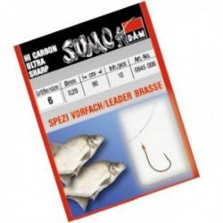 Carlige legate (montura) DAM Sumo Spezi Bream Red, Nr.12, Monofilament, 10 Buc/Plic