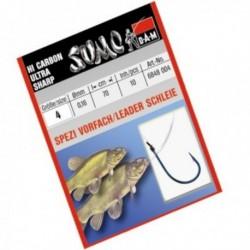 Carlige legate (montura) DAM Sumo Spezi Schleie, Nr.8, Monofilament, 5 Buc/Plic