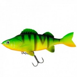 Swimbait Natural Perch Dam Effzett 140Mm Firetiger