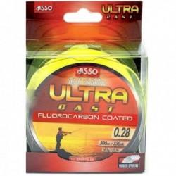 Fir Monofilament Asso Ultra Cast Fluo, 0.28 mm, 300 m, Rezistenta 9.8 kg, Galben