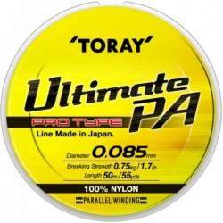 Fir Monofilament Toray Ultimate PA Clear, 0.12 mm, 50 m, Rezistenta 1.4 kg, Transparent