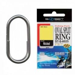 Inel Despicat Oval Sunset ST-S-6025 15mm, 6buc/plic