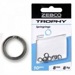 Inele Despicate Zebco Trophy Split Ring 8mm