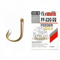Carlige Fanatik FF-22G Feeder Gold, Nr. 8, Tip Ochet, 8 Buc/Plic