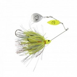 Spinner Savage Gear Da Bush 21Gr Sinking Yellow Silver Holo Flame